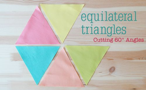 Cutting 60 Degree Triangles Tutorial By Faith Of Fresh