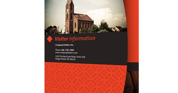 Free Psd Template Happy Church Visitor Folder Packet