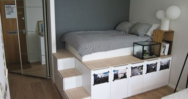 ... met extra opbergruimte - Roomed  home  Pinterest  Ikea hacks, Beds