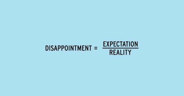 I recently taught students the definition of disappointment.