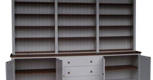 Painted Solid Wood 7ft 11 X 10ft Multi Display Shelving Dresser Bookshelf Unit Ebay White Painted Dressers Display Shelves Dresser Bookshelf