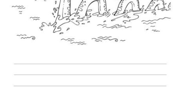 Loch Ness Monster Story Coloring Page   For Kids ...
