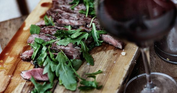 flank steak and red wine