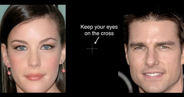 Stare at the cross. What's wrong with these celebrities' faces? | 23