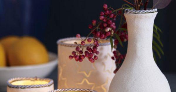 teelichter und vasen aus salzteig selber machen. Black Bedroom Furniture Sets. Home Design Ideas