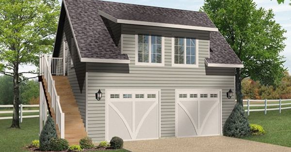Shed dormer bungalow garage plan with modification for Garage modification