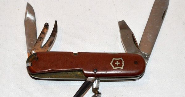 Old Early Victoria Victorinox Swiss Army Knife Marked