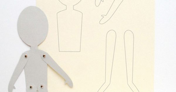 DIY And Free Printable Paper Doll Pattern
