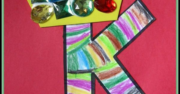 Letter K alphabet craft