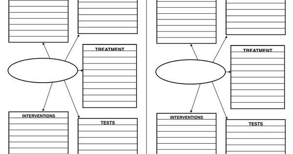 concept map  blank  nursing school  nurse printable  cheat