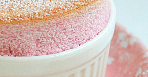 raspberry rose souffle - isn't it just the prettiest thing ...