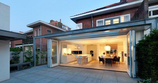 Woonhuis dbk breda christel smeets architect bna harmonicapui open foto michel kievits - Uitbreiding huis glas ...