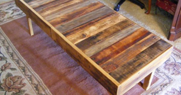 Kitchen Under Bar Rustic Reclaimed Wood Coffee Table Or