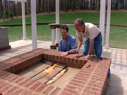 How To Hook Up The Gas For A Fire Pit Outside Fire Pits Fire Pit Plans Brick Fire Pit
