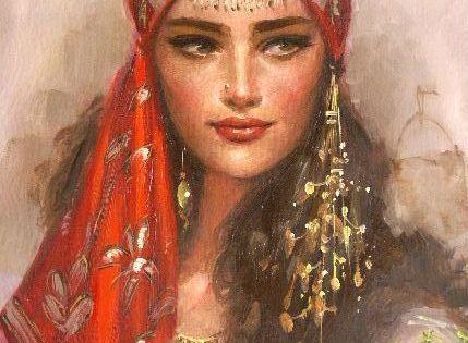 Beautiful Gypsy Portrait Paintings Gypsy Art Pinterest