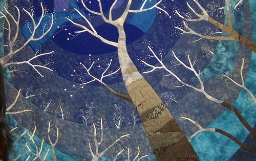 Tokyo Quilt Festival - I love this tree in the night sky.