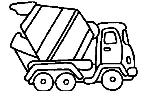 Cement Truck Simple Sketch Coloring Page Concrete Mixer