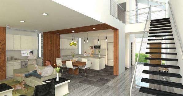 House Plans With Loft Design Perspective Presentation