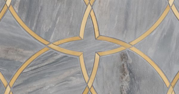 Grey marble with gold foiling