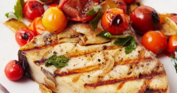 Swordfish steak, Steaks and Cherry tomatoes on Pinterest