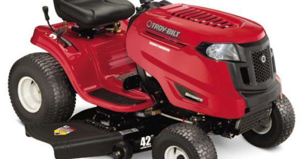Troy Bilt 20 Hp Automatic 42 Riding Lawn Mower Electric Riding Lawn Mower Riding Lawn Mowers Lawn Mower