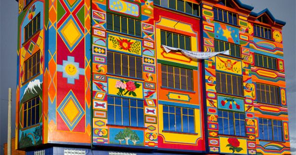 "A colorful Building in Bolivia ""Urban Art"""
