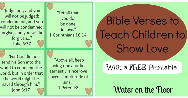 Bible Verses to Teach Children to Show Love {with a FREE printable ...