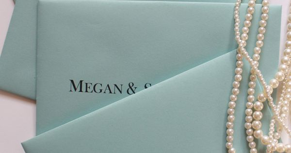 Breakfast at Tiffany's Themed Bridal shower Invitations. Oh Em G. Love these
