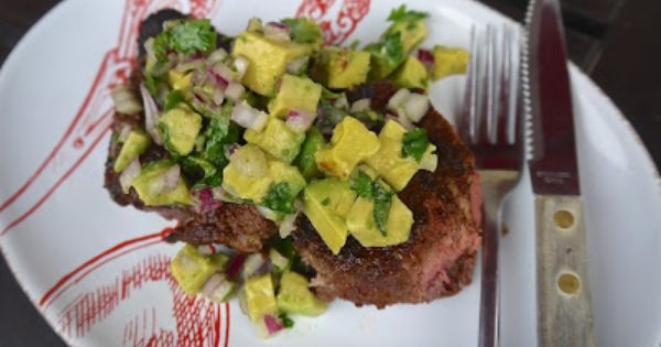 Spice-Rubbed Strip Steak w Avocado-Lime Salsa | I hope this will be ...