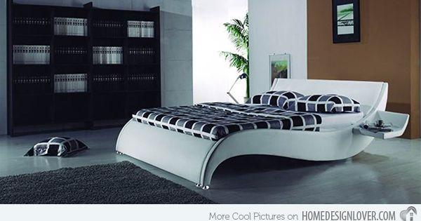 15 Stylistic Curved Platform Beds Home Design Lover Curved Bed Contemporary Bed Frame Modern Bedroom Furniture