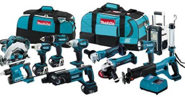 Makita Lxt1200 18v Lxt 12pc Cordless Combo Kit Tool Authority Combo Kit Cordless Tools Makita Tools
