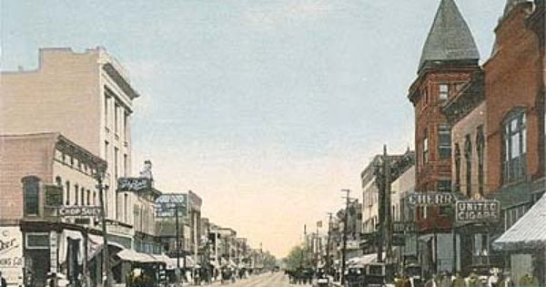 Postcard Of Main Street Looking East Danville Il