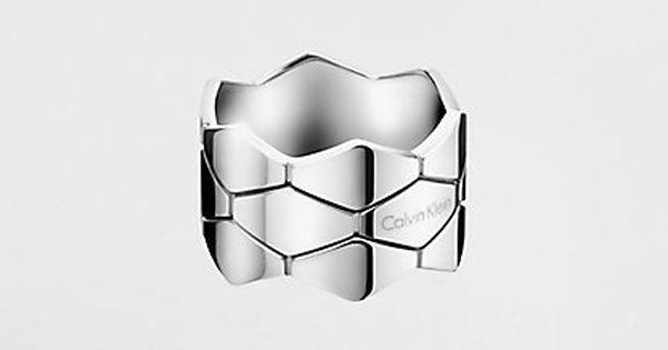 Calvin Klein Ring Calvin Klein Snake Kj5dmr0002sst Work Jewelry Jewelry Watches Jewelry