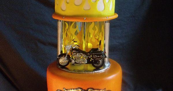 Harley Davidson Motorcycle Cake groom cake