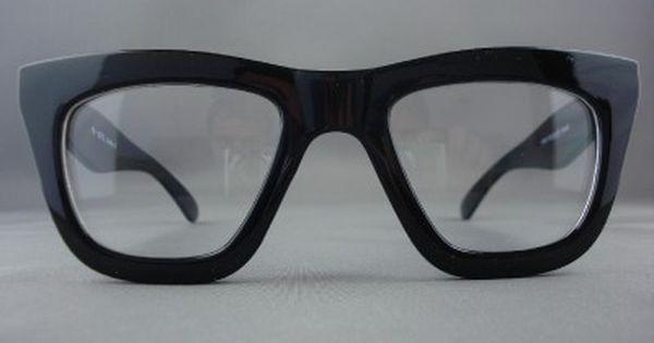 50s Vintage Thick Black Retro Eyeglasses Clear Glasses ...