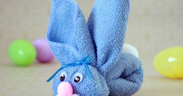 Washcloth Bunny Kid's Craft