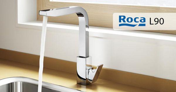 Roca l90 grifo de cocina con ca o giratorio cold start for Grifos de cocina roca