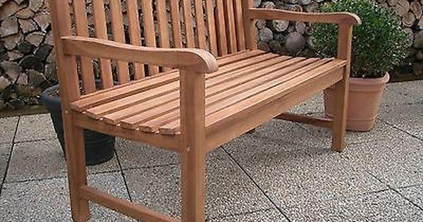 Gartenbank Teak Massiv Teakholz Sitzbank Holz Gartenmobel Holzbank
