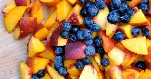 Peach & Blueberry - yummy summer fruit salad