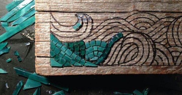 Driftwood art mosaic diy driftwood stained glass for How to make stained glass in driftwood