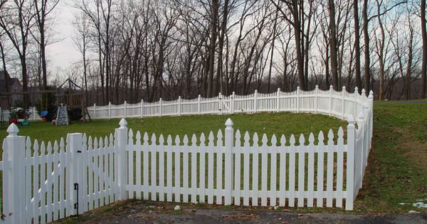 Prizm Vinyl Fences Style Harrisburg Color White Picket Top French Gothic Fence Styles Picket Fence Panels Vinyl Fence