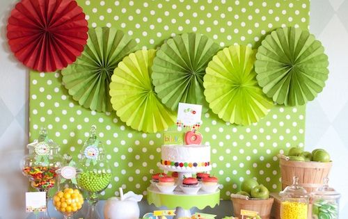 The Very Hungry Caterpillar Party Dessert Table, love this for Ethan's 1st