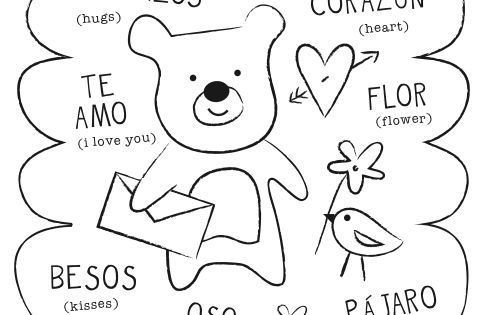 valentine coloring pages spanish - photo #12