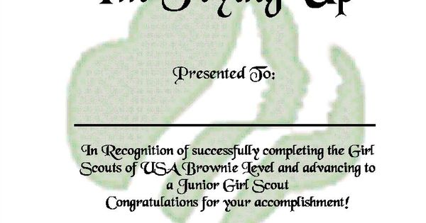 girl scout bridging ceremony ideas   Brownie Fly Up ...