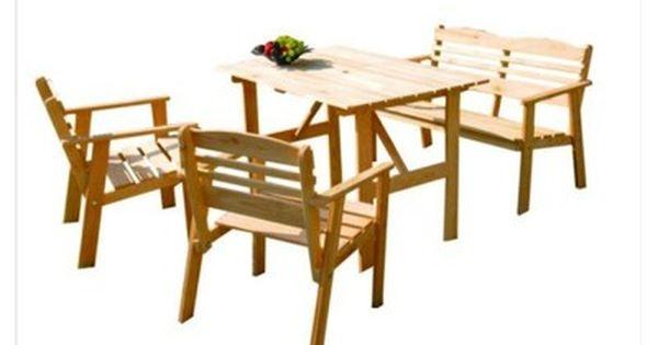 Reston Meble Ogrodowe Drewniane Stol Lawka Krzesla 6781048306 Oficjalne Archiwum Allegro Outdoor Furniture Sets Furniture Outdoor Furniture