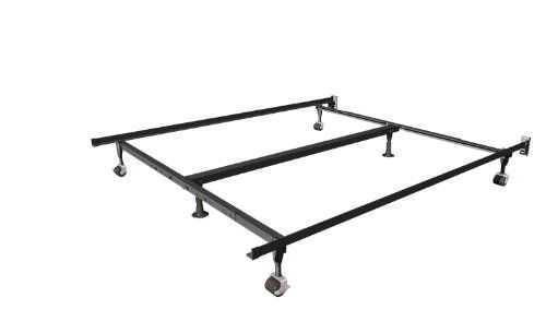 Insta Lock Queen King And Cal King Bed Frame With Rug Rollers
