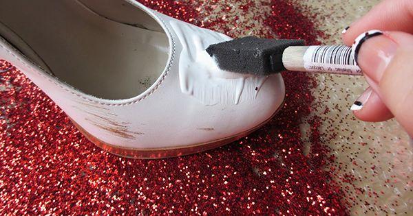 Glitter shoes, just loke dorthoy in the wizard of oz! Sooo cute!!!