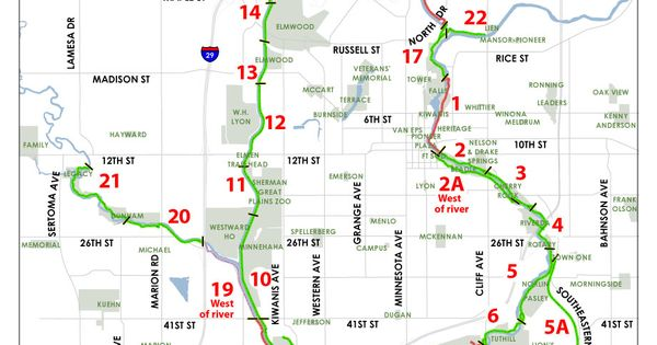 Sioux Falls39 Bike Trail Map  Home Is Where The Heart Is