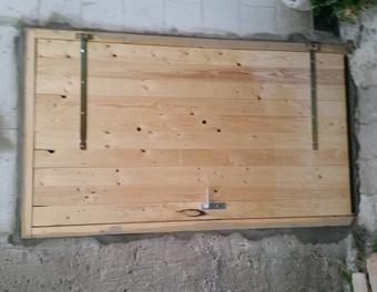 Holztur Mit Rahmen Fur S Stallgebaude Holztur Schuppen Selber