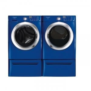 Colored Kitchen And Laundry Appliances Laundry Room Storage